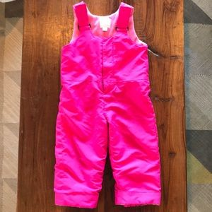 Girls 2T Snow Bib